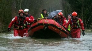 Floods in Wraysbury - thanks to BBC News for the photo